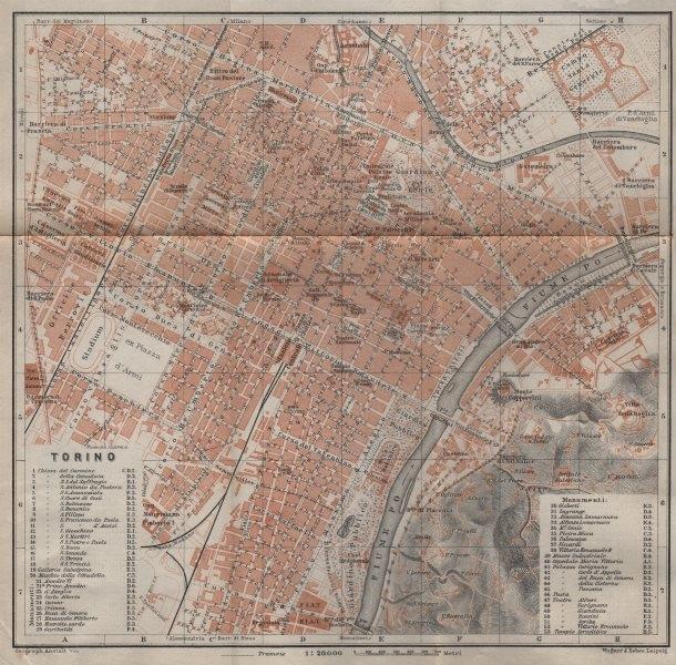 Associate Product TORINO TURIN antique town city plan piano urbanistico. Italy mappa 1913