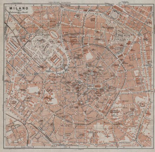 Associate Product MILANO MILAN antique town city plan piano urbanistico. Italy mappa 1913