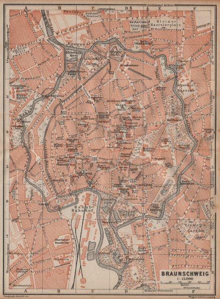 Associate Product BRAUNSCHWEIG town city stadtplan. Brunswick. Lower Saxony karte 1904 old map