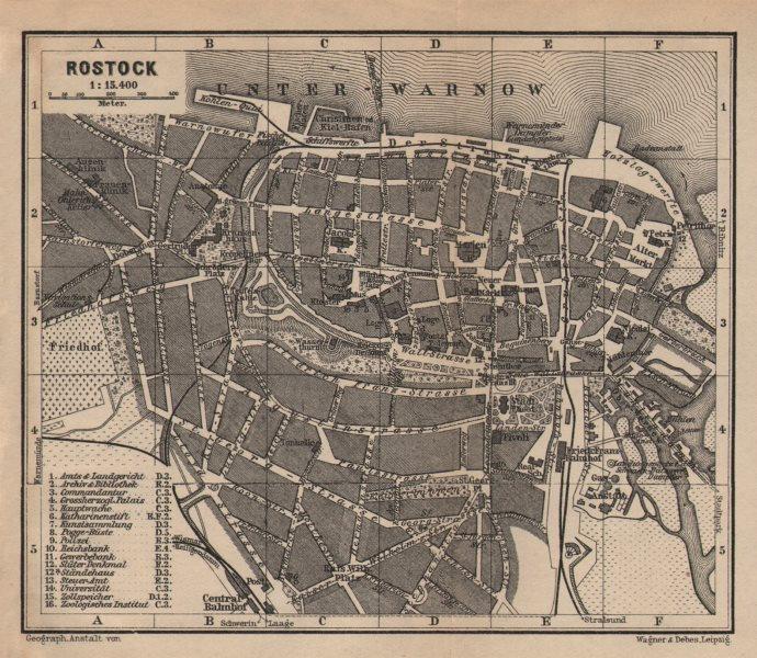 Associate Product ROSTOCK antique town city stadtplan. Mecklenburg-Vorpommern karte 1904 old map