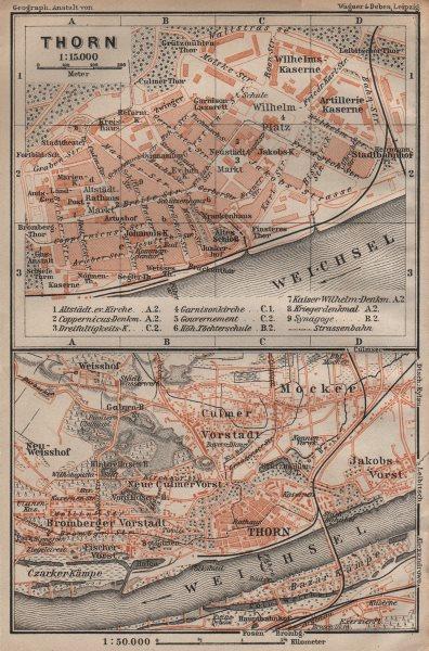 Associate Product TORUŃcity plan. Torun Bydgoskie Chełmińskie Jakubskie Przedmieście 1904 map