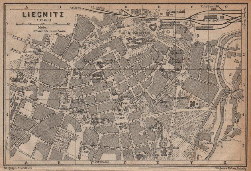 Associate Product LIEGNITZ LEGNICA antique town city plan miasta. Silesia, Poland mapa 1904