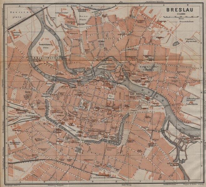 Associate Product BRESLAU WROCŁAW antique town city plan miasta I . Wroclaw. Poland mapa 1904