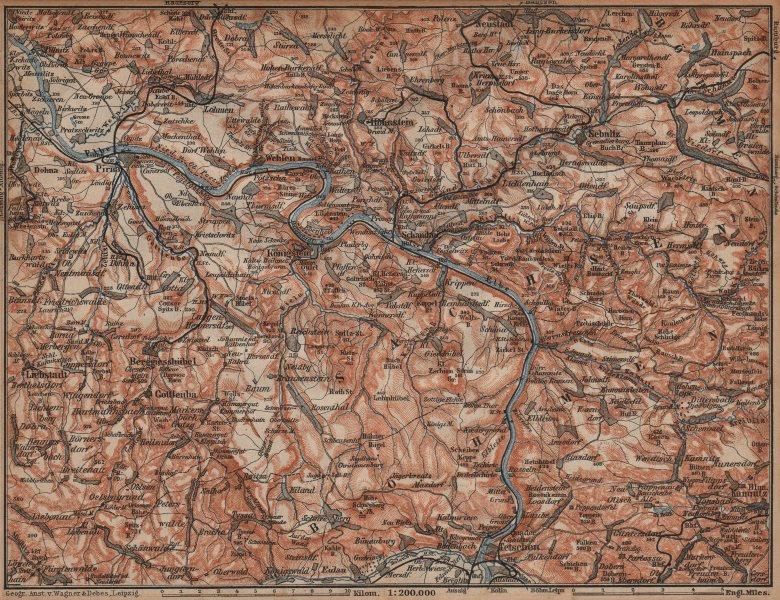 Associate Product SAXON/BOHEMIAN SWITZERLAND Böhmische/Sächsische Schweiz Ceske Svycarsko 1904 map