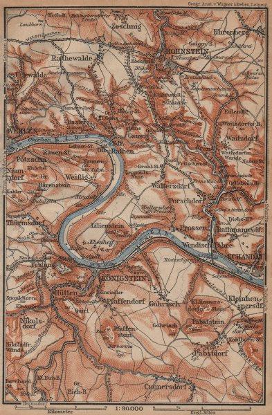 Associate Product KÖNIGSTEIN & HOHNSTEIN umgebung. Sächsische schweiz Saxon Switzerland 1904 map