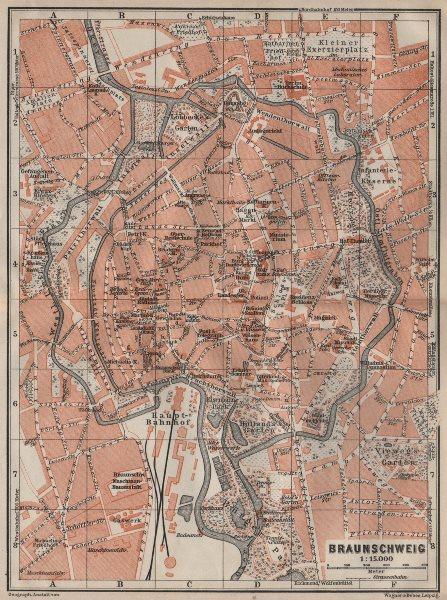 Associate Product BRAUNSCHWEIG town city stadtplan. Brunswick. Lower Saxony karte 1910 old map