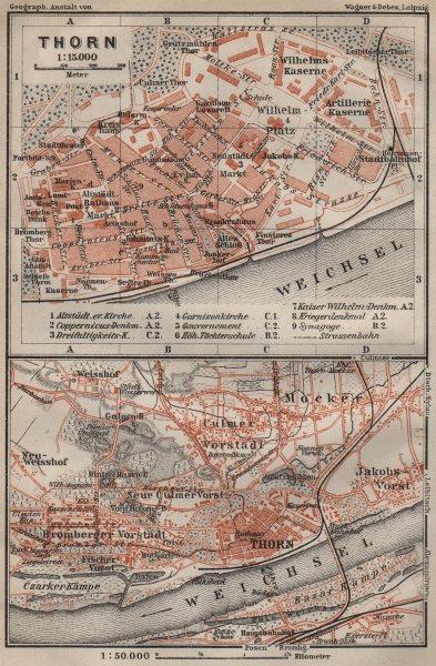 Associate Product TORUŃcity plan. Torun Bydgoskie Chełmińskie Jakubskie Przedmieście 1910 map