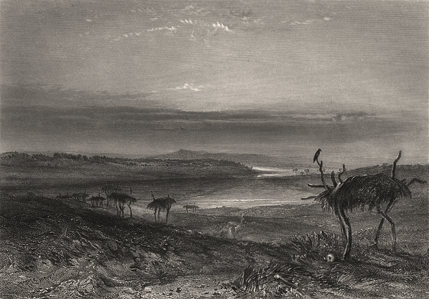 """Aboriginal """"Mode of Disposing of the Dead"""", by BOOTH/PROUT. Australia c1874"""