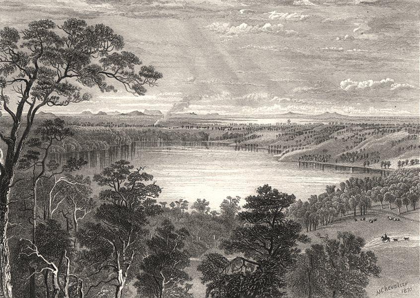 "Associate Product ""The Basin Bank, Victoria"", by E.C. BOOTH/Nicholas CHEVALIER. Australia c1874"