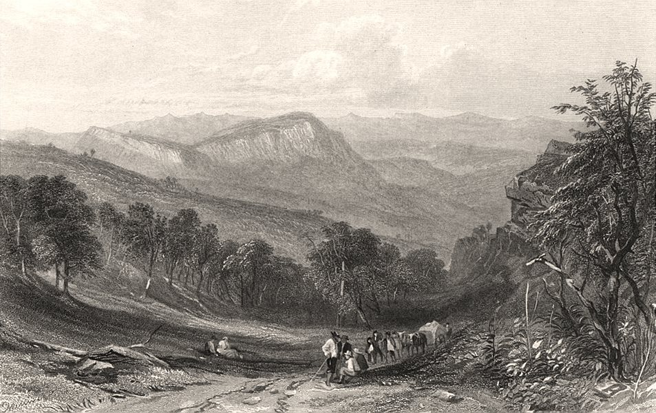 """Associate Product """"Jamieson's Valley"""", by Edwin Carton BOOTH / John Skinner PROUT. Australia c1874"""