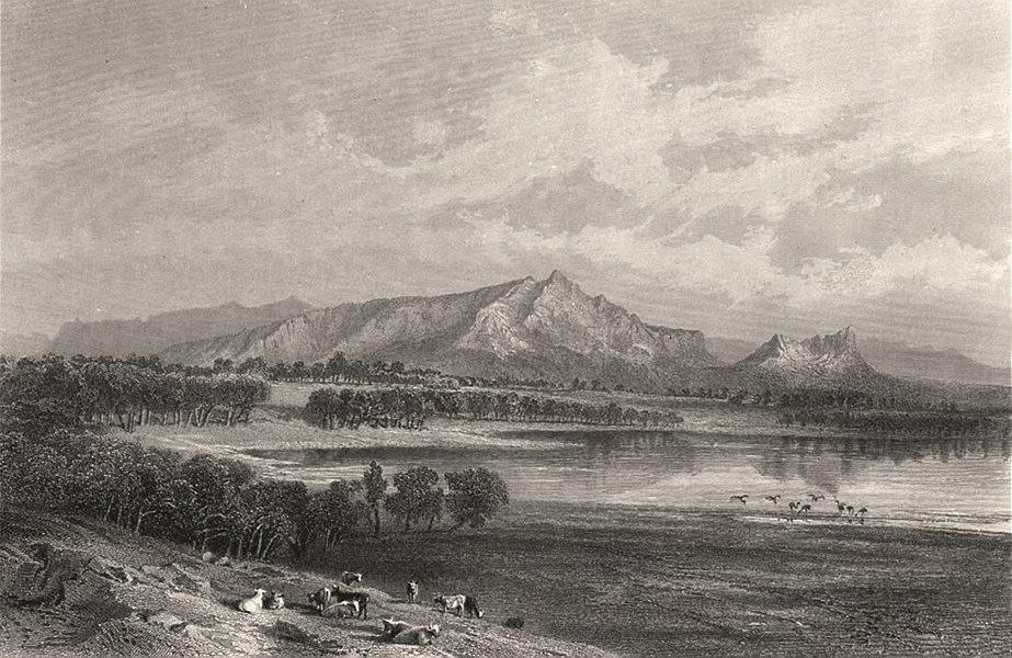 "Associate Product ""Mount Zero & Lake Taylor, Victoria"" BOOTH/CHEVALIER. Mura Mura, Australia c1874"
