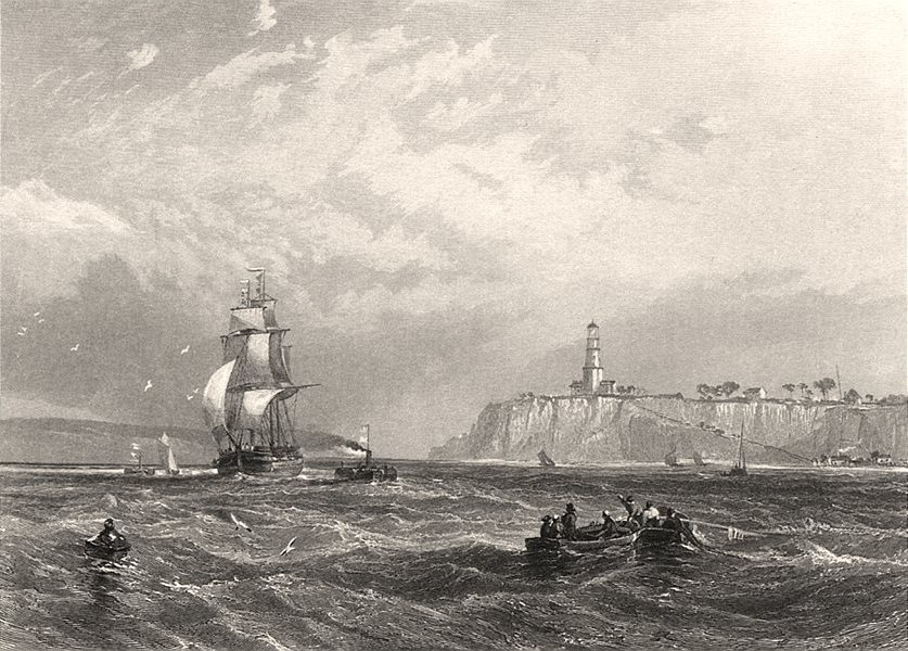 """Associate Product """"Port Phillip Heads"""" by E.C. BOOTH/John Skinner PROUT. Victoria, Australia c1874"""