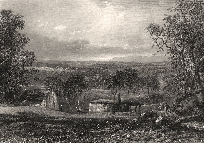 """Associate Product """"South Bank of the Yarra, near Melbourne"""". BOOTH/PROUT. Victoria Australia c1874"""