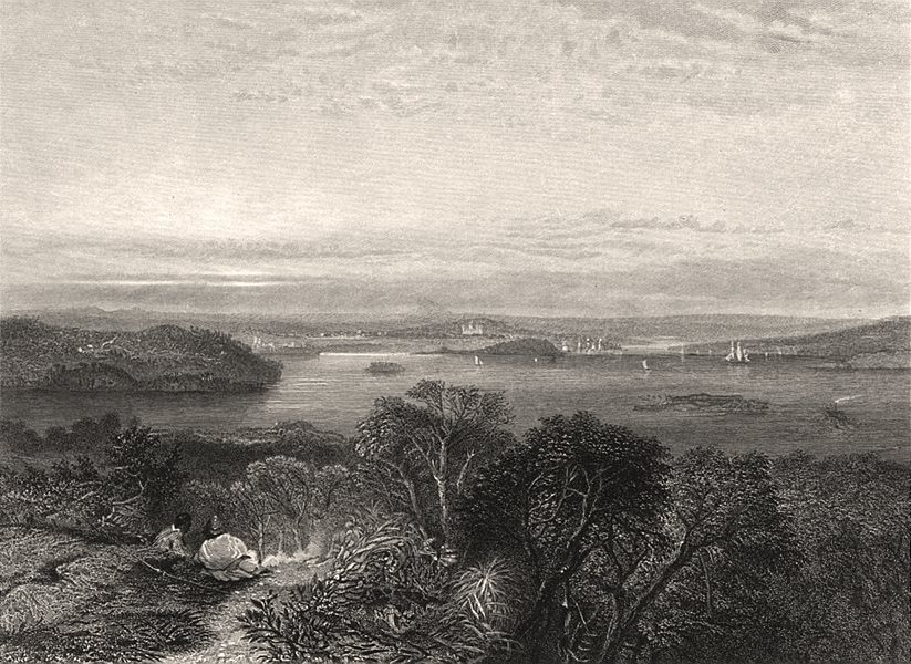 """Associate Product """"Port Jackson, New South Wales"""", by E.C. BOOTH/J.S. PROUT. NSW, Australia c1874"""