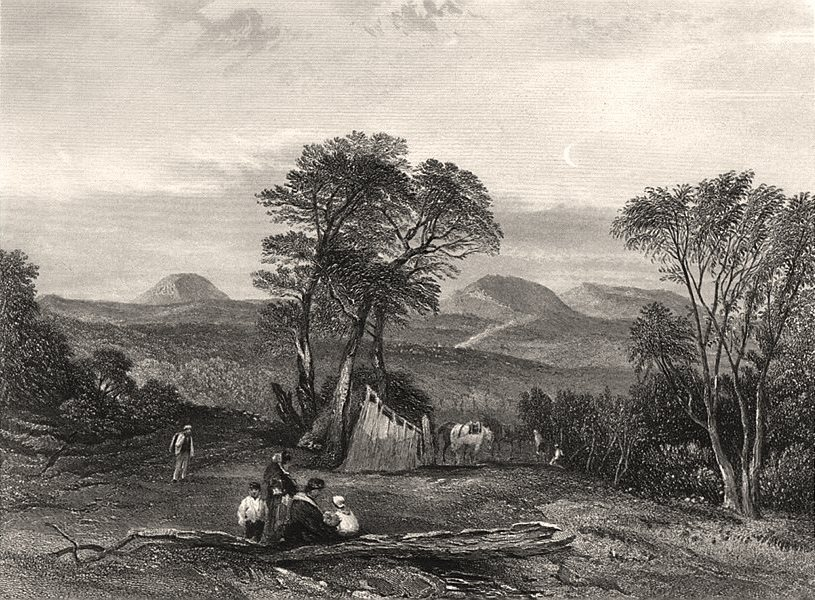 """Associate Product """"Mount Toma [Tomah], New South Wales"""". BOOTH/PROUT. Blue Mountains, NSW c1874"""