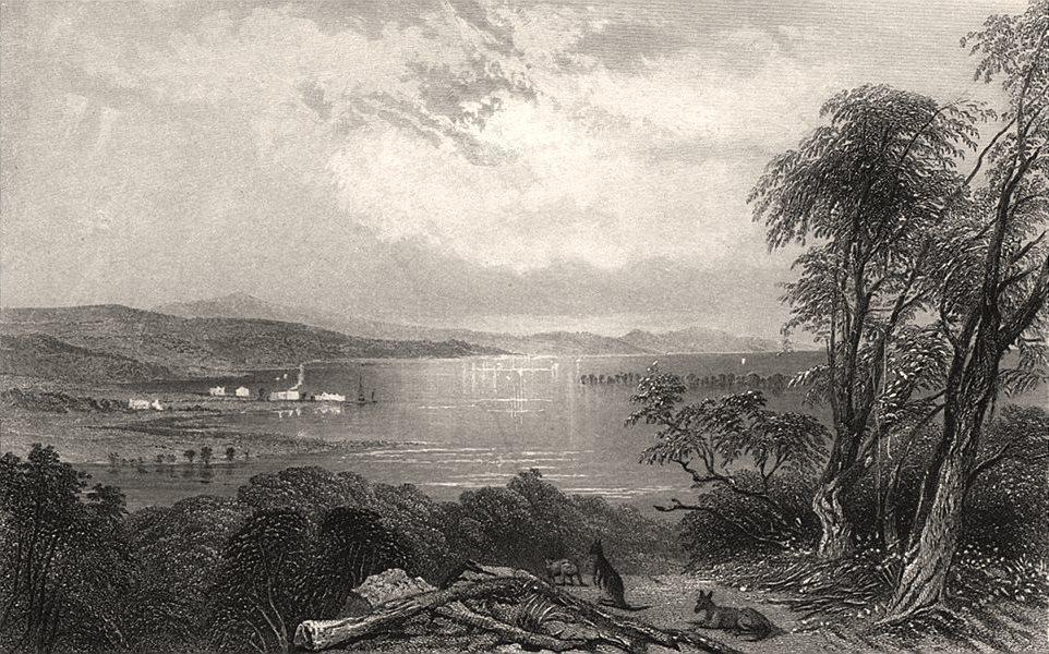 """Port Stephens "", by Edwin Carton BOOTH/John Skinner PROUT. NSW, Australia c1874"