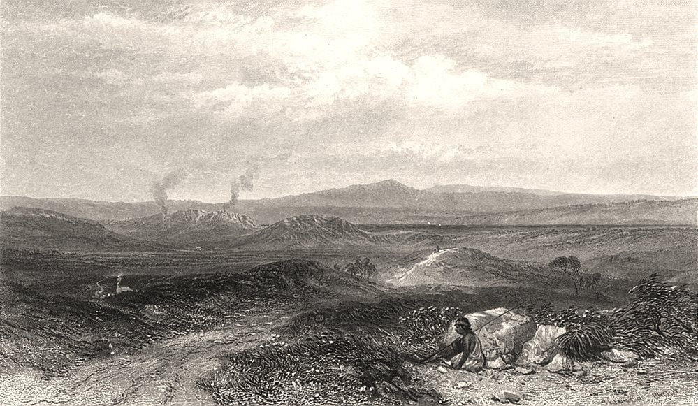"""Associate Product """"View Near Botany Bay"""", by E.C. BOOTH/J.S. PROUT. Sydney, NSW, Australia c1874"""