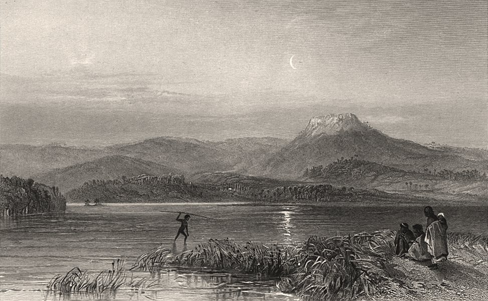 """Associate Product """"Tom Thumbs Lagoon [Lake Illawarra], New South Wales"""". BOOTH/PROUT. NSW c1874"""