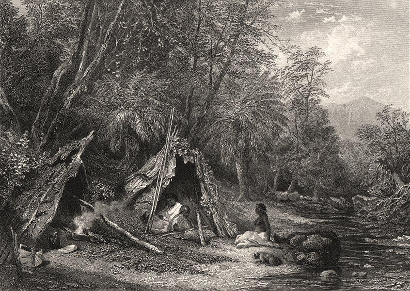 """Associate Product Aboriginal """"Native Encampment """", by E.C. BOOTH/J.S. PROUT. Australia c1874"""