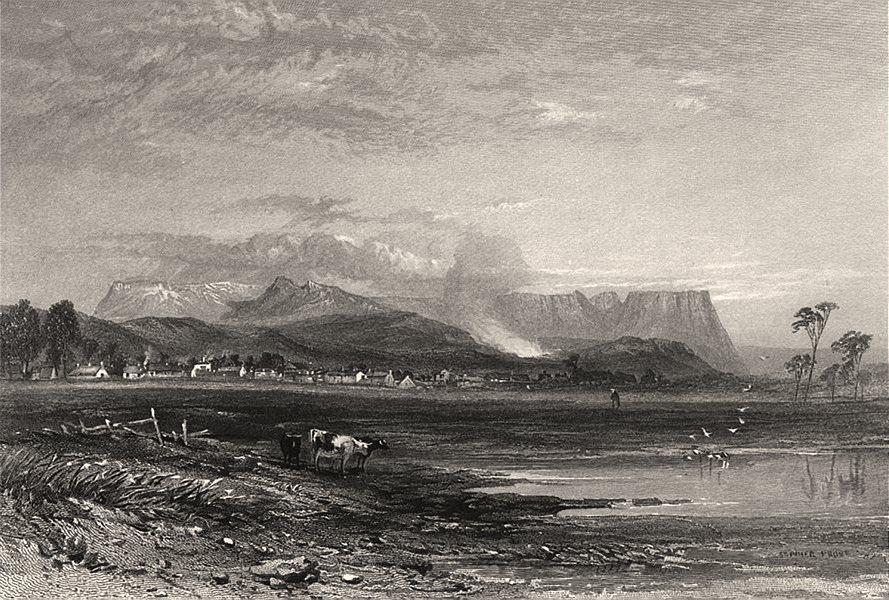 "Associate Product ""Perth, Tasmania"", by Edwin Carton BOOTH / John Skinner PROUT. Australia c1874"