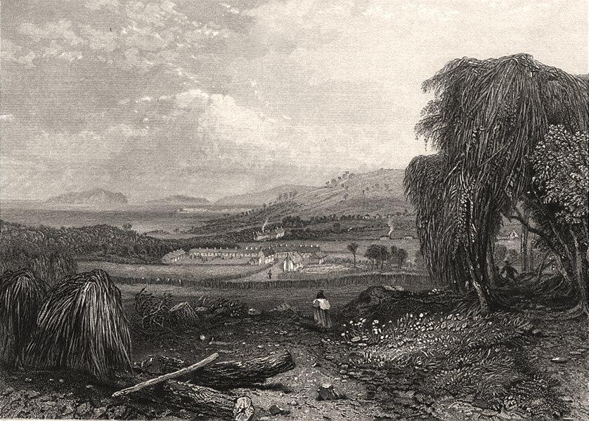 """Black Man's Cove, Tasmania"", by E.C. BOOTH/John Skinner PROUT. Australia c1874"