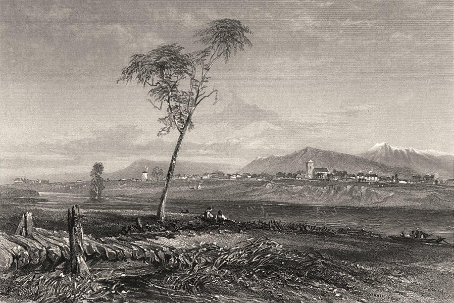 "Associate Product ""Longford, Tasmania"" by Edwin Carton BOOTH / John Skinner PROUT. Australia c1874"