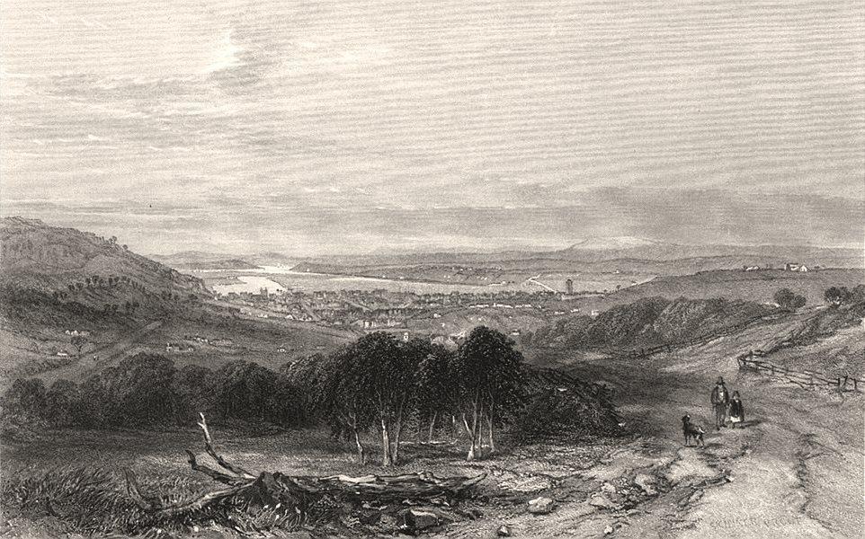 "Associate Product ""Launceston, Tasmania"" by Edwin Carton BOOTH/John Skinner PROUT. Australia c1874"