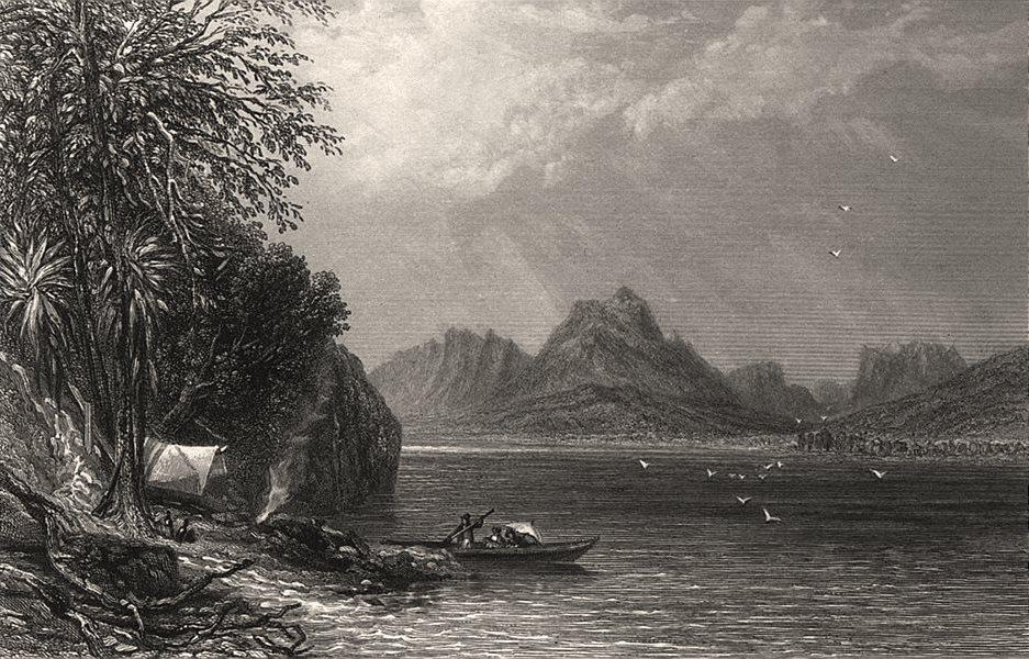 "Associate Product ""Lake St. Clair, Tasmania"", by E.C. BOOTH/John Skinner PROUT. Australia c1874"