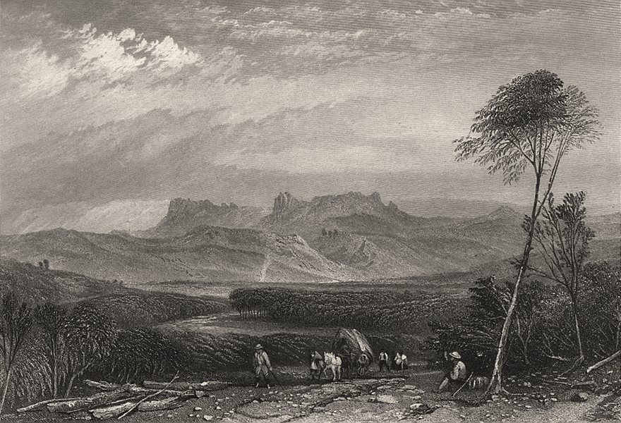 """Associate Product """"Break of Day Plains, Tasmania"""", by BOOTH/PROUT. Break O'Day. Australia c1874"""