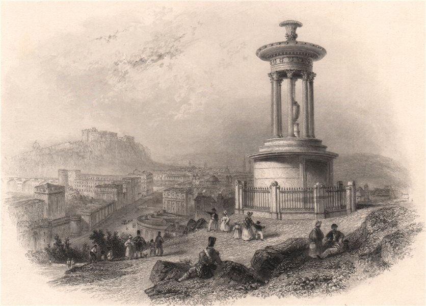 Associate Product Edinburgh from the Calton Hill. Scotland. BARTLETT c1840 old antique print
