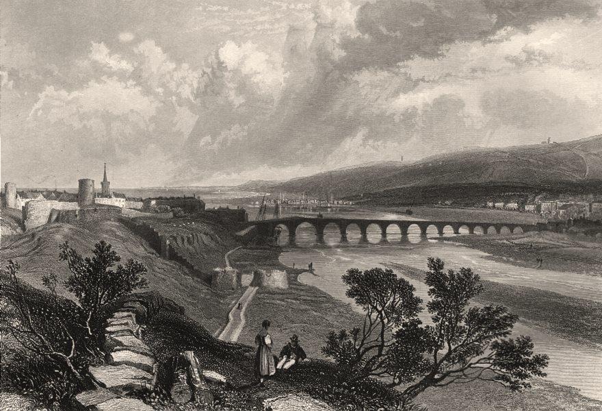Associate Product Berwick Bridge. Scotland. HARDING c1840 old antique vintage print picture