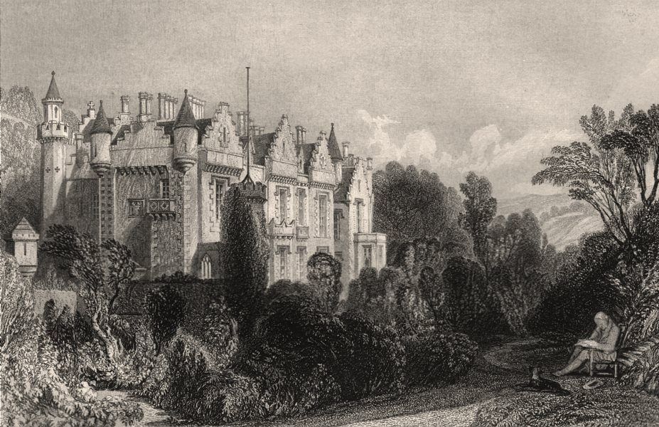 Associate Product Abbotsford. Roxburghshire. Scotland. ALLOM c1840 old antique print picture