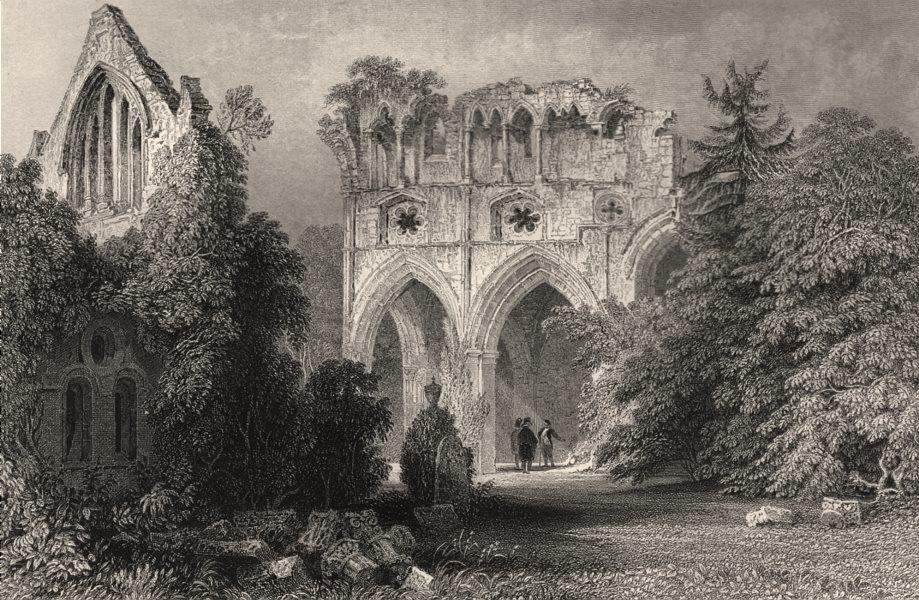 Associate Product Dryburgh Abbey, Roxburghshire, Sir Walter Scott's burial place. ALLOM c1840