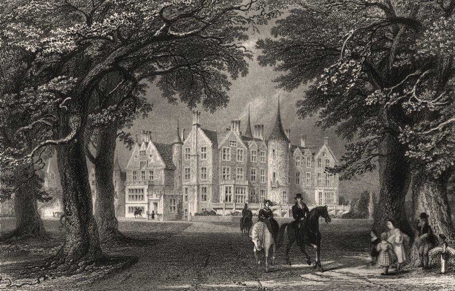 Associate Product Tyninghame House, the Seat of the Earl of Haddington. Scotland. ALLOM c1840