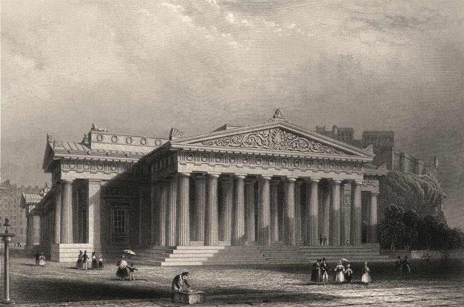 Associate Product The Royal Institution, Edinburgh (now the Royal Scottish Academy). KEMP c1840