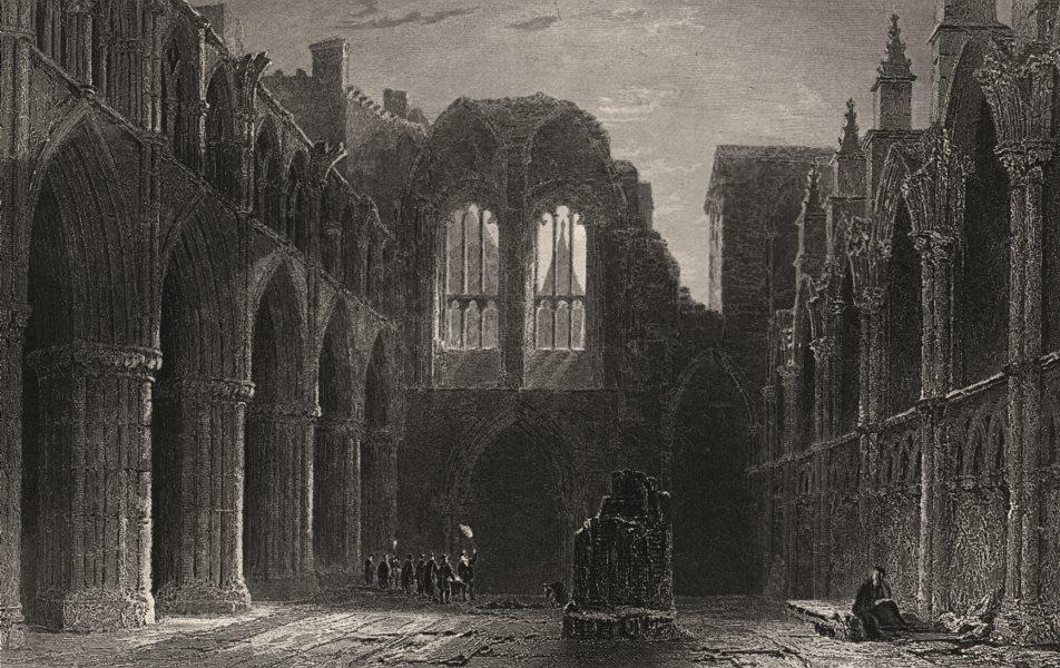 Associate Product Holyrood Chapel. Edinburgh. Scotland. ALLOM c1840 old antique print picture