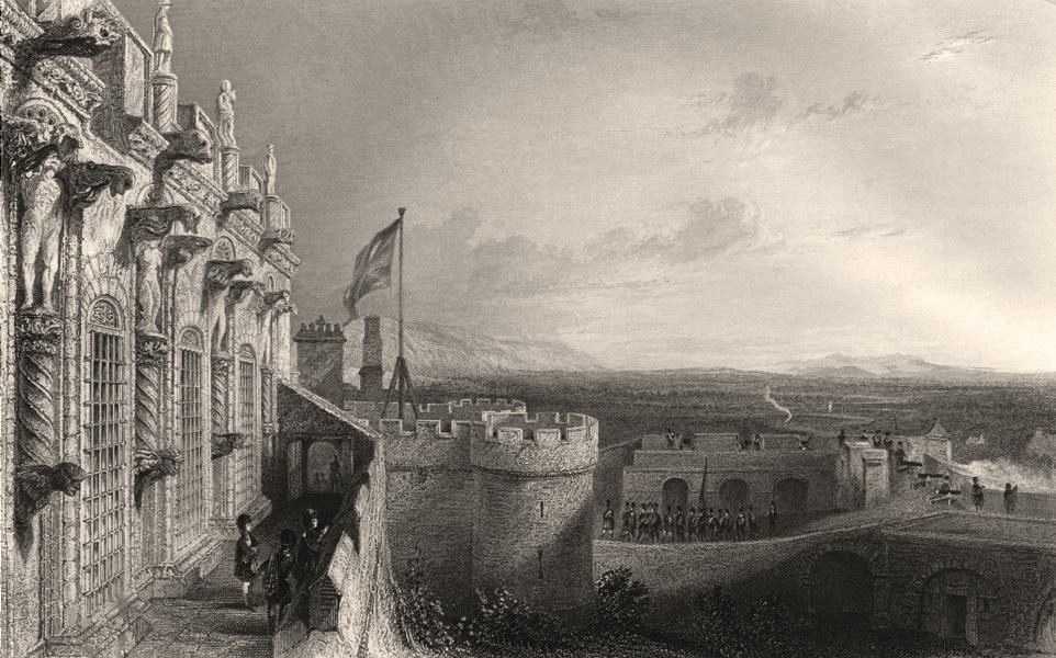 Associate Product Stirling Castle (from the ramparts). Scotland. ALLOM c1840 old antique print