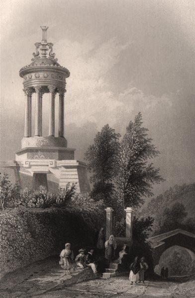 Associate Product The cenotaph of Robert Burns at Alloway. Scotland. BARTLETT c1840 old print
