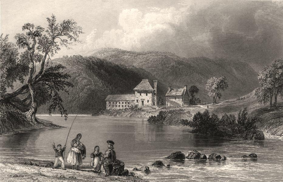 Associate Product The Water of Lugar, East Ayrshire. River Lugar. Scotland. BARTLETT c1840 print