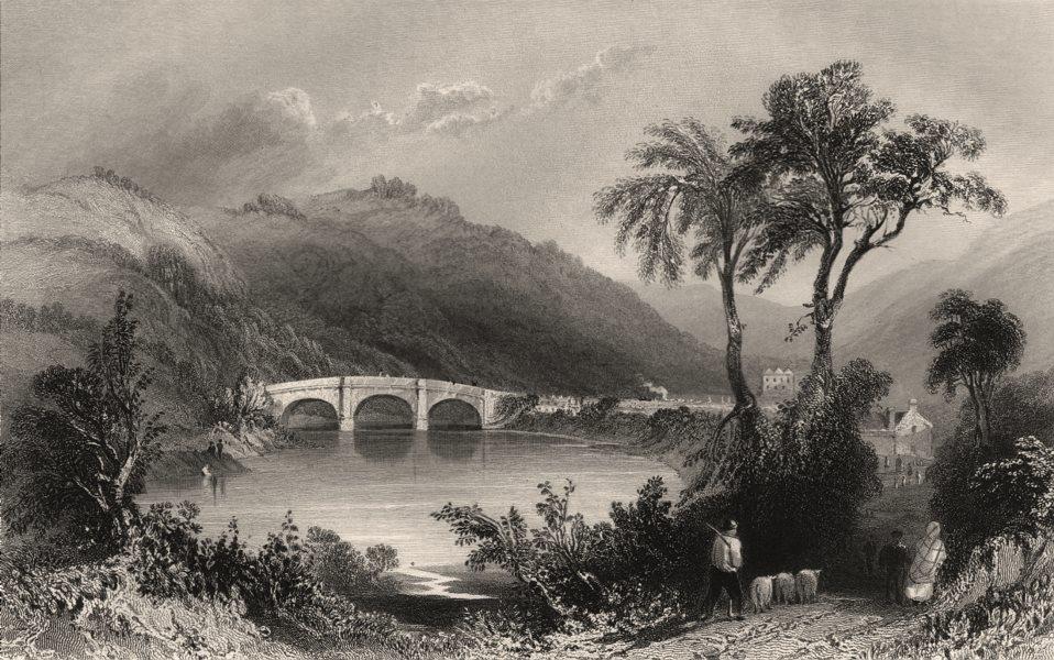 Associate Product Auld Garth (Auldgirth) Bridge, Nithsdale. Scotland. BARTLETT c1840 old print