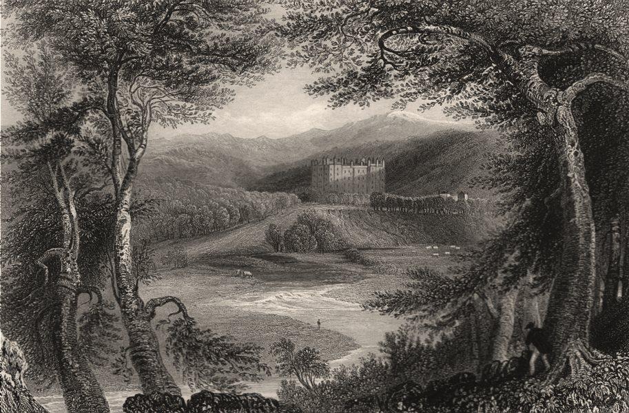 Associate Product Drumlanrig Castle. Dumfries-shire. Queensberry Estate. Scotland. BARTLETT c1840
