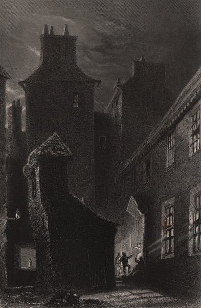 Associate Product Globe Inn Close, Dumfries (the Howff of Burns). Scotland. BARTLETT c1840 print
