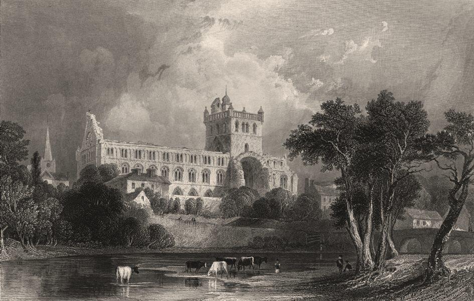 Associate Product Jedburgh Abbey. Roxburghshire. Scotland. ALLOM c1840 old antique print picture