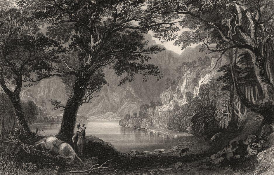 Loch Katrine. Perthshire. Scotland. ALLOM c1840 old antique print picture