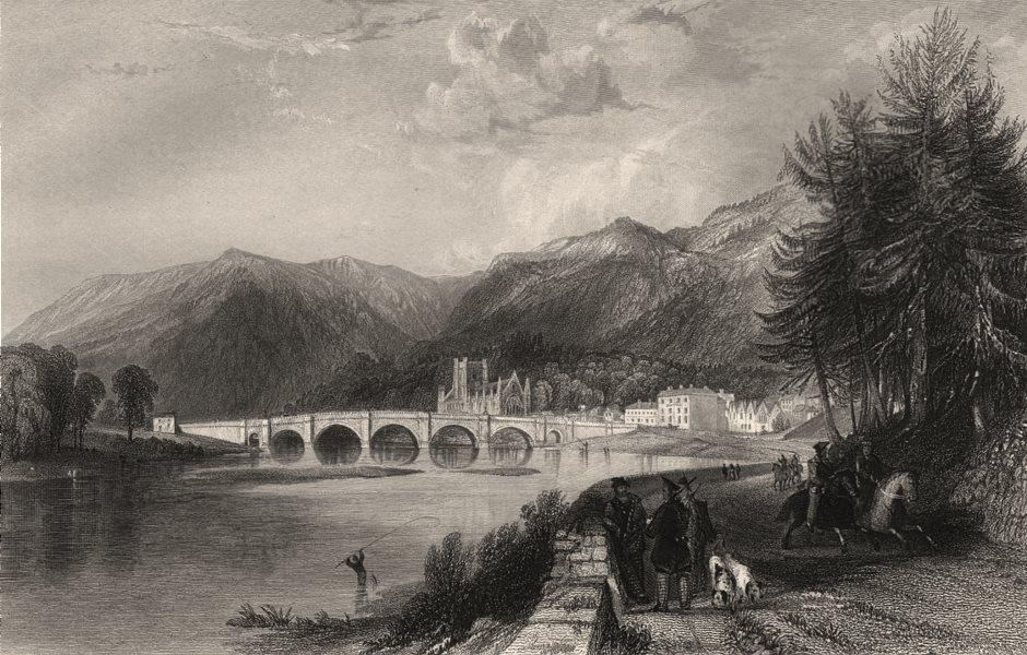 Associate Product Dunkeld. Perthshire. Scotland. ALLOM c1840 old antique vintage print picture