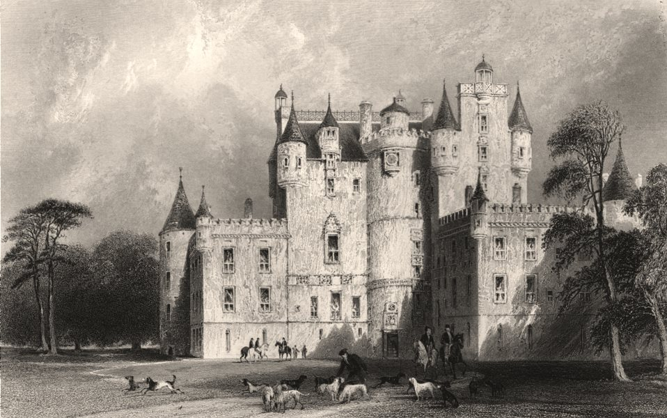 Associate Product Glamis Castle. Forfarshire. Scotland. ALLOM c1840 old antique print picture