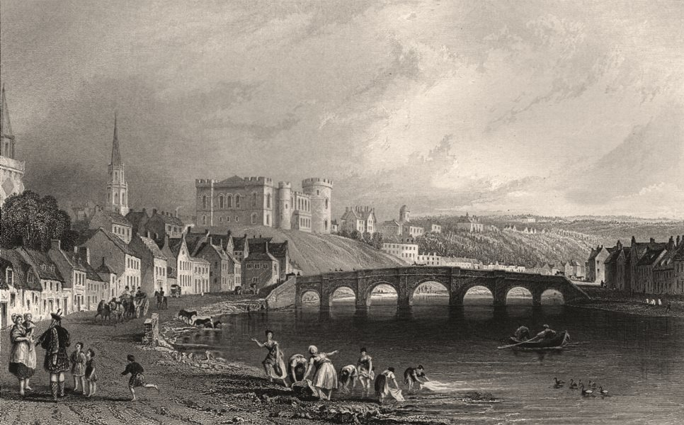 Associate Product Inverness from the west. Inverness-shire. Scotland. ALLOM c1840 old print
