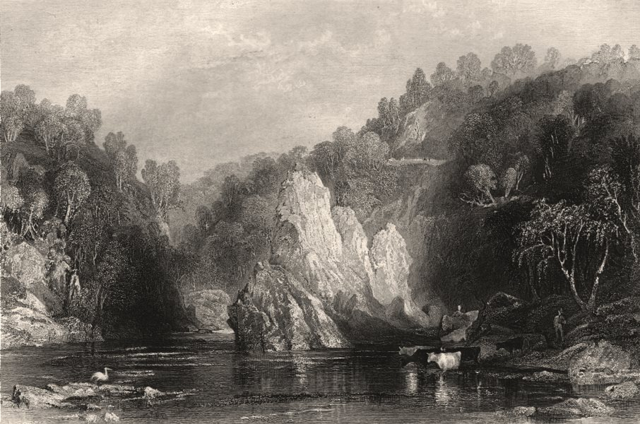 Associate Product The Drhuim on the Beauly River. Ross-shire. Scotland. ALLOM c1840 old print