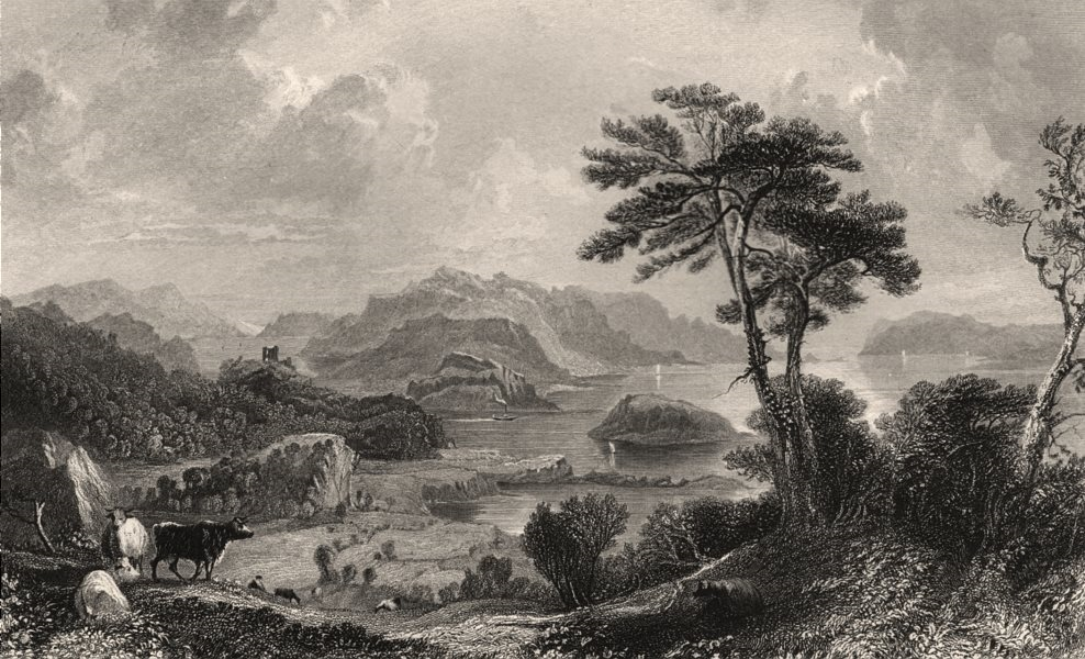 Associate Product Loch Linnhe, looking south. Argyllshire. Scotland. ALLOM c1840 old print