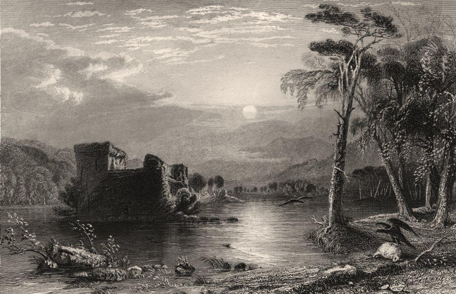 Associate Product Loch-an-Eilan. Inverness-shire. Scotland. Loch and Eilein. ALLOM c1840 print